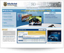 Kelley Blue Book - Flash Module Homepage Concept