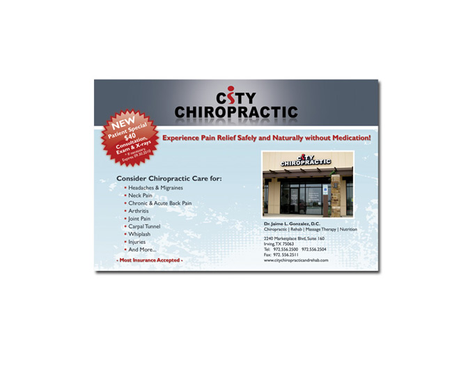 City Chiropractic Postcard
