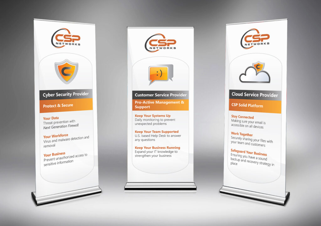 CSP Networks - Trade Show 6.5 ft x 2.5 ft Retractable Banners
