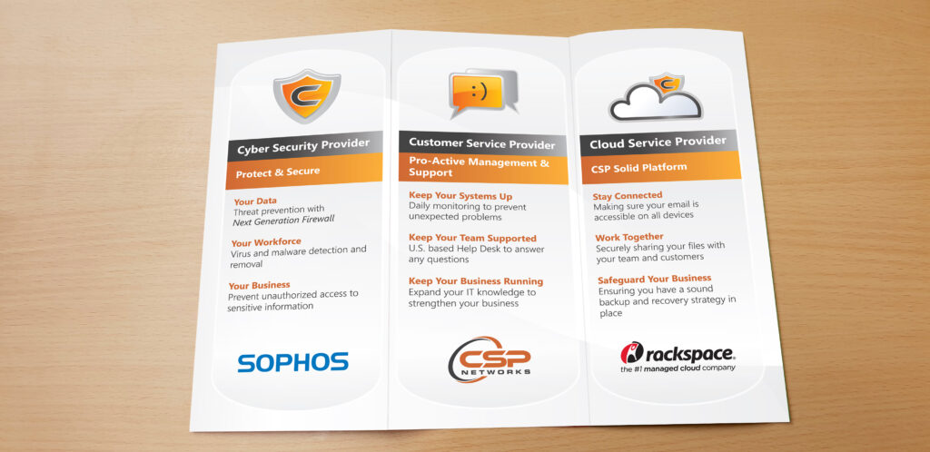 CSP Networks - Trifold Pamphlet (Center)