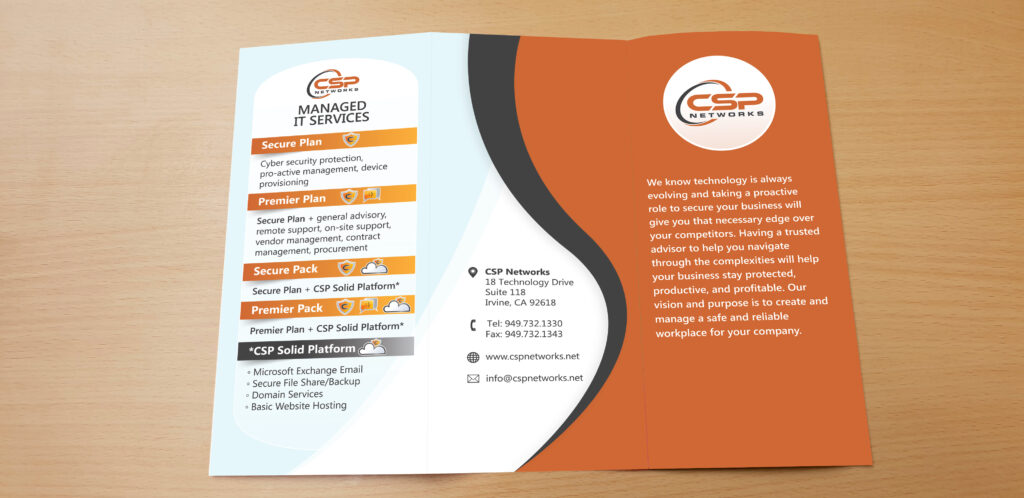 CSP Networks - Trifold Pamphlet (Cover/Back)