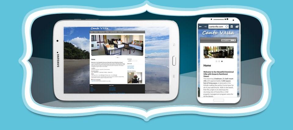 Canto Villa Costa Rica Vacation Rental Responsive Website Design