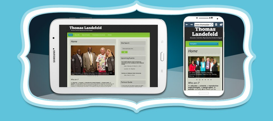Thomas Landefeld Responsive Website Design