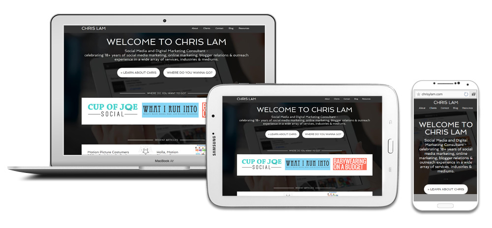 Chris Lam Responsive Website