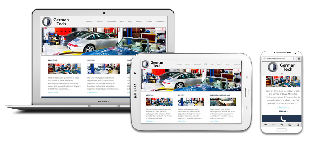 German Tech Auto Repair & Sales Website