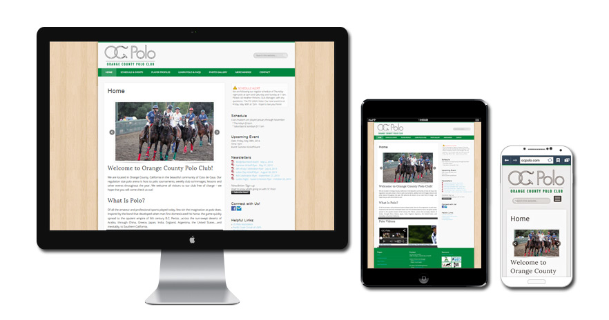 Orange County Polo Club Website