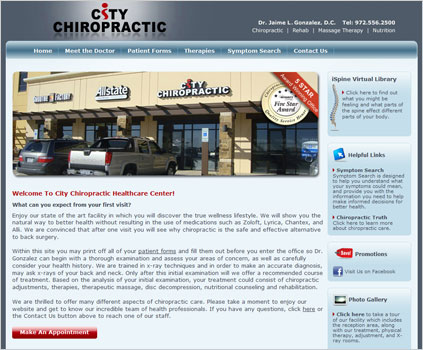 City Chiropractic Website