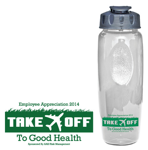 Take Off to Good Health Event Logo Design