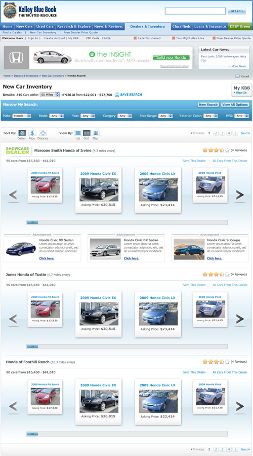 Kelley Blue Book Website