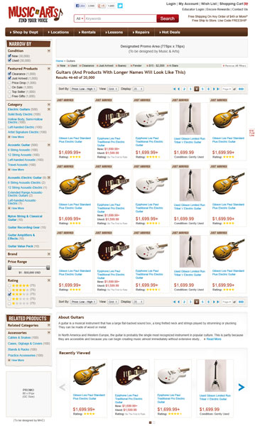 Music & Arts Website