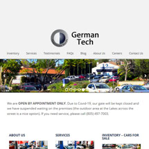 German Tech Auto Responsive Website
