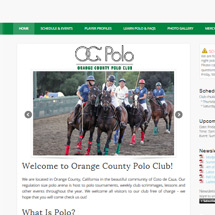 OC Polo Club Responsive Website